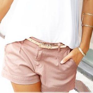 CASUAL CUFF SHORTS   $49   X37002 old rose color